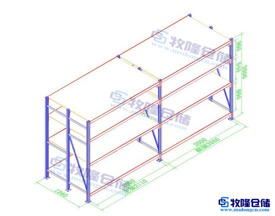 仓库中型货架设计图; cad设计图
