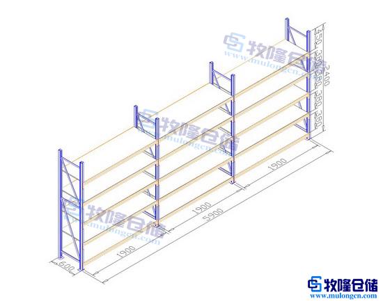 平面设计图:; 灯饰厂仓库货架方案;