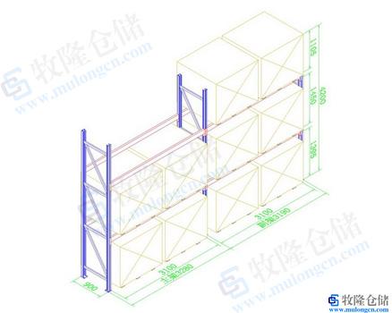钢构货架cad设计图;