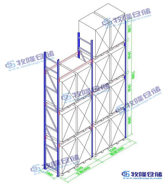 仓库重型货架设计图