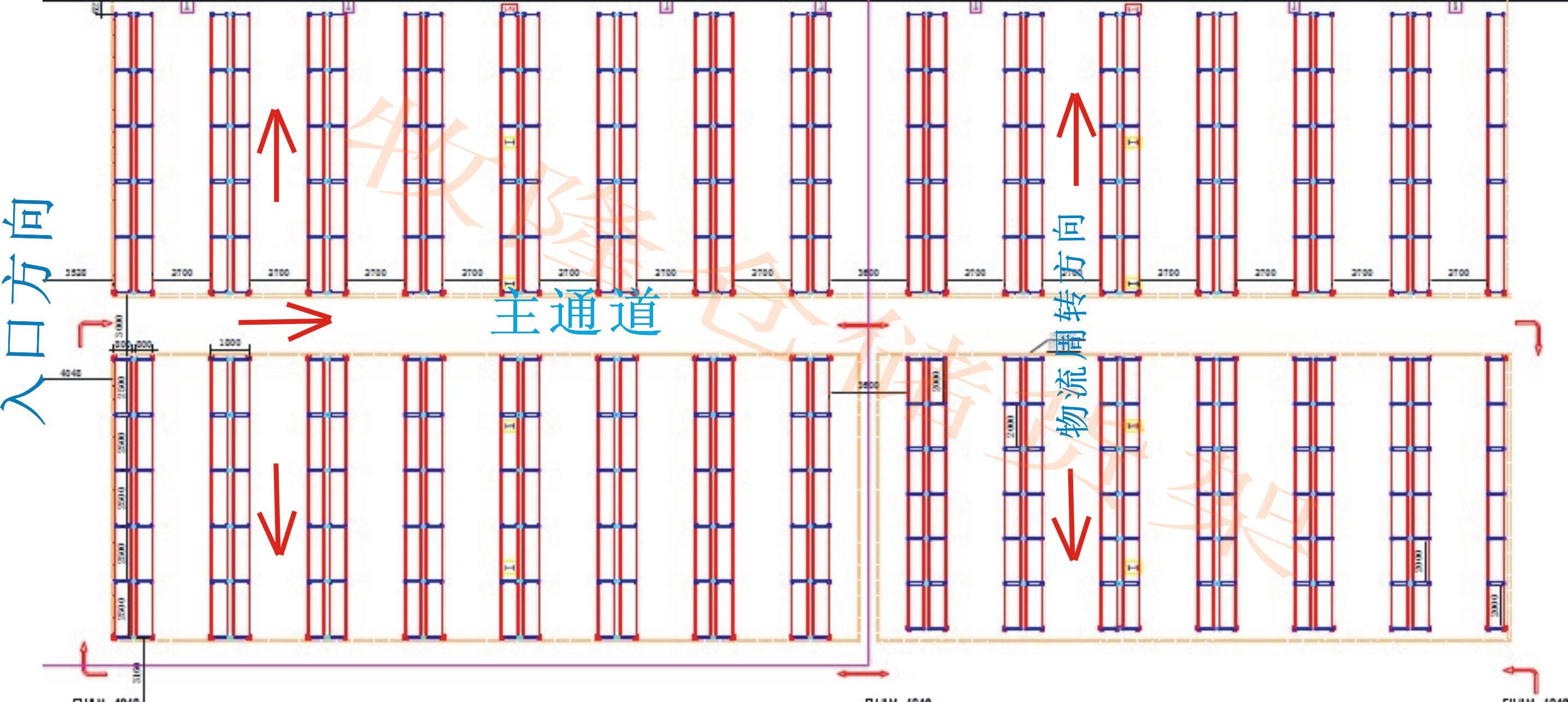 物流仓库平面设计图1